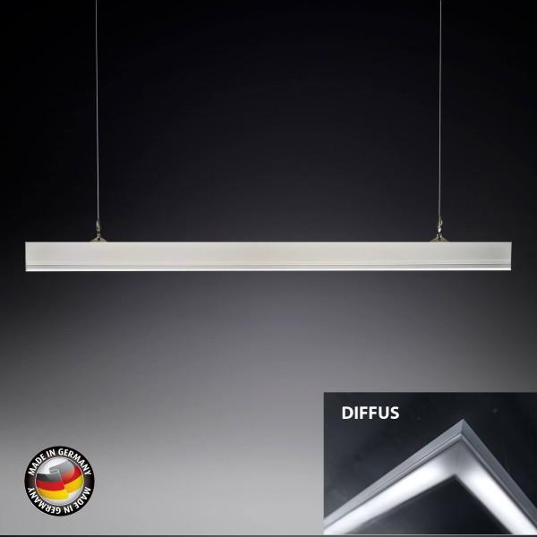 KB Silverline Pro Medium Arbeitsplatz LED Leuchte Pendelleuchte - Abdeckung Diffus
