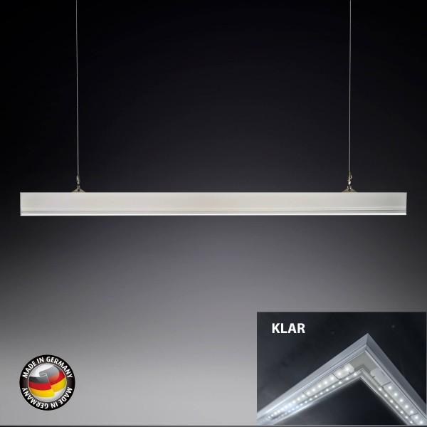 KB Silverline Pro Medium Arbeitsplatz LED Leuchte Pendelleuchte - Abdeckung Klar